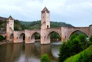 Stock Photo of valentre bridge in cahors france