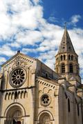 Stock Photo of gothic church in nimes france
