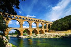 Stock Photo of pont du gard in southern france