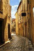 Narrow street in perigueux Stock Photos