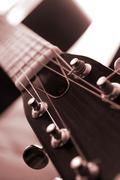 Stock Photo of guitar close up