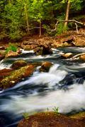 river rapids - stock photo