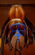 Stock Photo of saddles