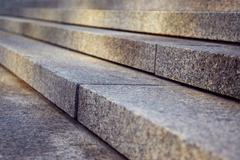 granite stairs - stock photo