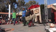 street clown show - stock footage
