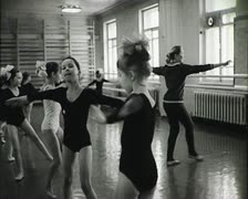 Children's school of ballet. Newsreel of the USSR. Stock Footage