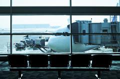 Stock Photo of airport interior