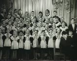 Stock Video Footage of Children's choir. Newsreel of the USSR.