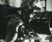 Newsreel. A group of reporters. Stock Footage