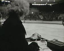 Figure skating. Newsreel of the USSR. Stock Footage