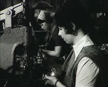 Workers of the USSR at the factory. Newsreel. Stock Footage