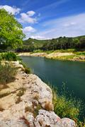 Stock Photo of river gard in southern france