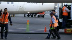 Airport Workers, Airplane Maintenance, Ground Crew Stock Footage