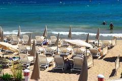 Beach in cannes Stock Photos