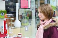 Teenage girl shopping Stock Photos
