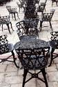Stock Photo of wrought iron furniture