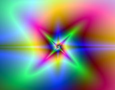 Computer generated fractal spiral Stock Illustration