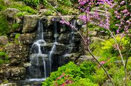Stock Photo of cascading waterfall