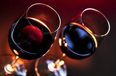 wineglasses - stock photo