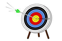Arrow hits mark Stock Illustration