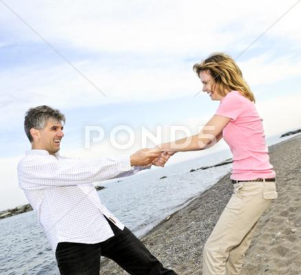 Stock photo of happy mature couple