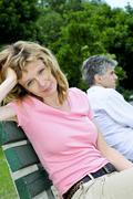 mature couple having relationship problems - stock photo