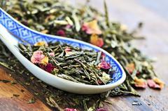 loose green tea - stock photo