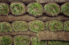 Rolled sod Stock Photos
