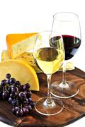 Stock Photo of wine and cheese