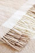 Cozy alpaca wool blanket Stock Photos