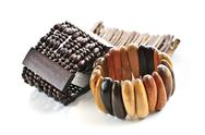 Stock Photo of wooden bracelets