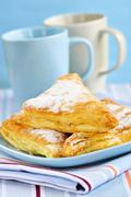 apple turnovers pastries - stock photo
