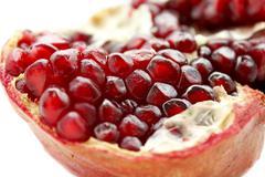 close up of pomegranate fruit - stock photo