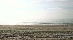 Sand Rake on Beach - stock footage