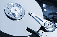 Stock Photo of hard drive detail