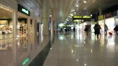 Duty free stores at airport Stock Footage