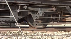Old rail train wheel Stock Footage