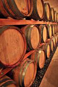 Stock Photo of wine barrels