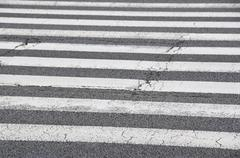 pedestrian crossing, zebra - stock photo