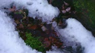 Winter Background Water Dripping Into The Snow Stock Footage