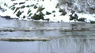 Winter Background Melting snow and water Stock Footage