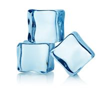 Three ice cubes Stock Photos