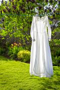 vintage dress - stock photo