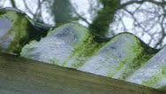 Dripping Water from a Gutter Stock Footage