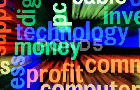 Stock Illustration of technology money profit