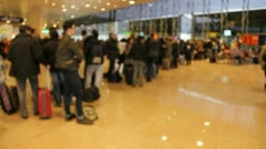 People in queue Stock Footage