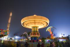 Carnival Swing Ride At Midway (Fair) Stock Photos