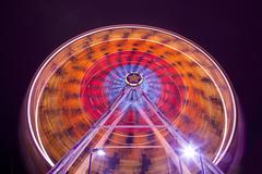 Ferris Wheel At Carnival Midway Stock Photos