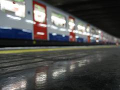 London Underground Subway Train Stock Illustration
