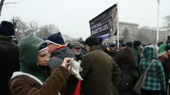 March for Life Rally Stock Footage
